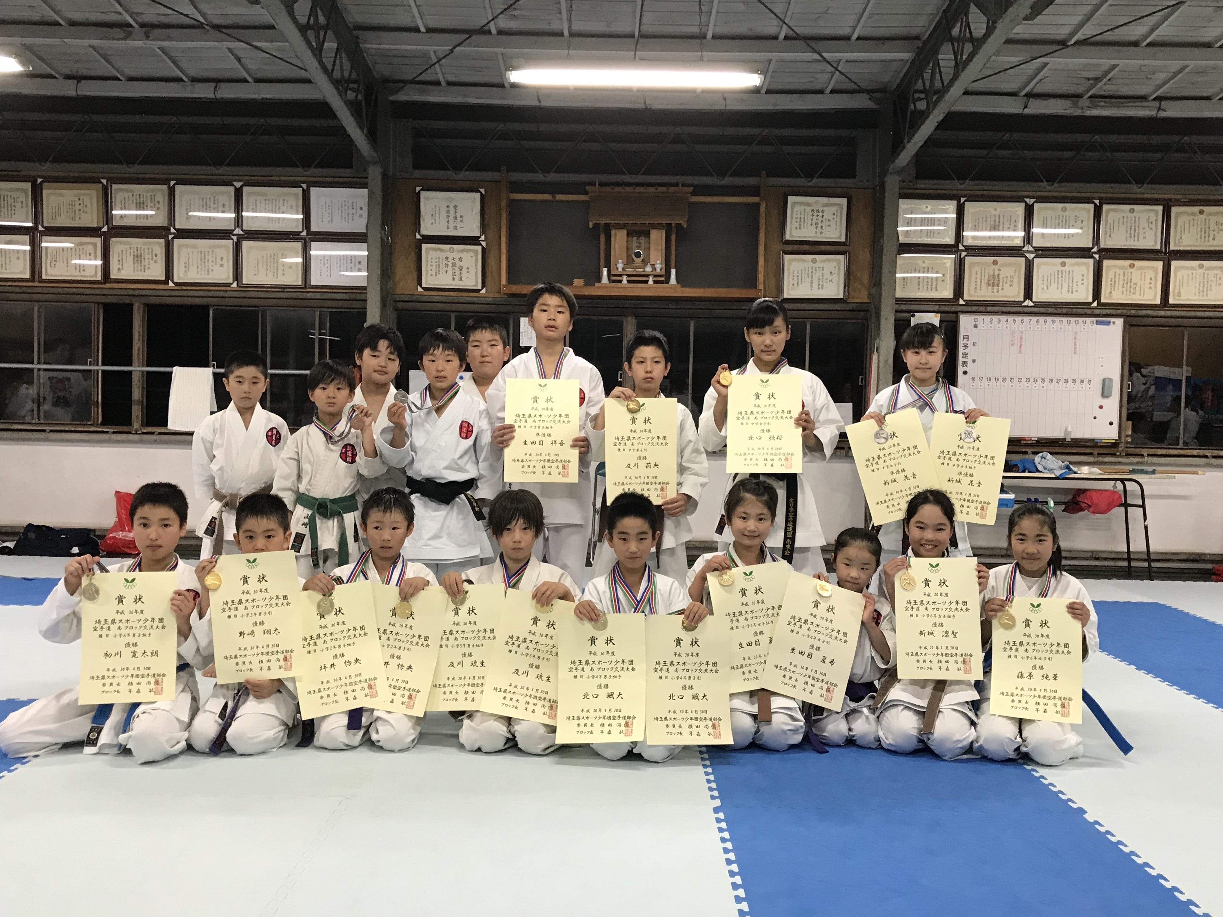 平成30年 埼玉県スポーツ少年団南ブロック大会
